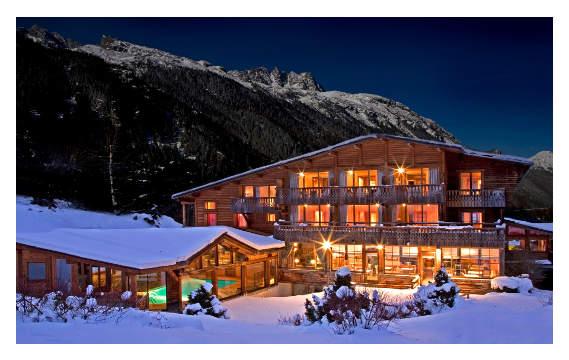 L'hotel du Jeu de Paume sous la neige